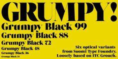 Grumpy™ - Webfont #font #typography