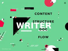 "Writer – colorful poster exploration by Geunbae ""GB"" Lee"
