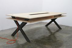Work Table 02 Series Miguel de la Garza #design #furniture #table #work