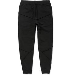 Alexander McQueen Tapered Panelled Loopback Cotton-Jersey Sweatpants