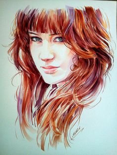 Watercolor portraits by Arthit Lertlalitkul #watercolor