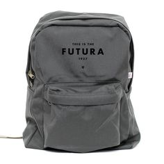 Backpack Futura 1927 Classic School Style Backpack Gray #futura #backpack #typography
