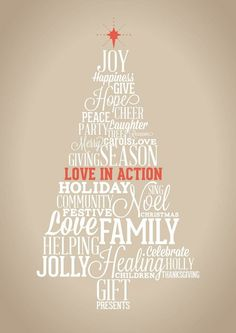 Christmas: Love In Action #vector #tree #design #christmas #poster
