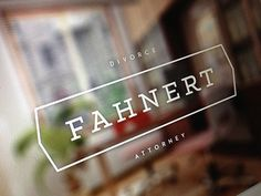 Dribbble - Fahnert Branding by Bill S Kenney #clean #logo #branding #typography