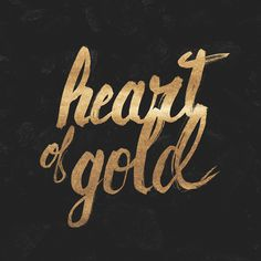 Heart of Gold Art Print #heart #young #lettering #neil #of #golden #gold #typography