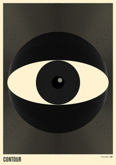 Contours | Society6 #page #black #simon #eye #poster