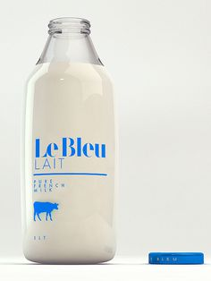 Le Bleu Lait on Behance #packaging #milk #bottle