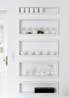 rishi2.54.jpg (420×591) #white #door #jars #minimal #bowls #shelves