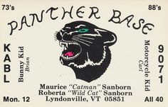 Panther Base - Lyndonville, Vermont | Flickr - Photo Sharing! #flyer #fuckyeah #panther #base