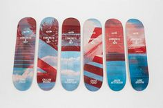 Concrete & Sky decks #deck #skateboard #design #series