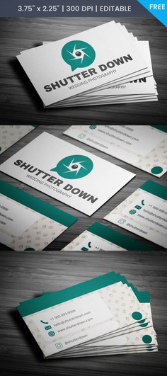 Free Whatsapp Themed Photography Business Card Template