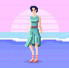 Pixel Art Beach Character Animation 1