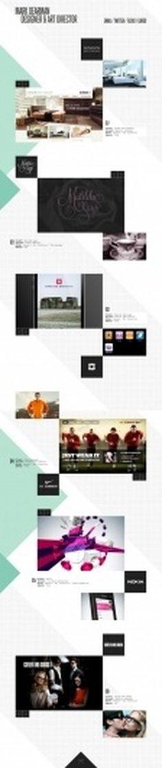 The website design showcase of Mark Dearman. #website #grid