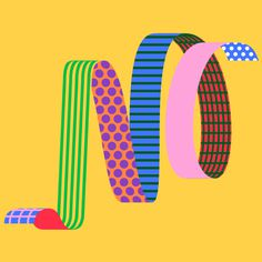 No by @mkrnld #typography #pattern #ribbon #mkrnld #illustration