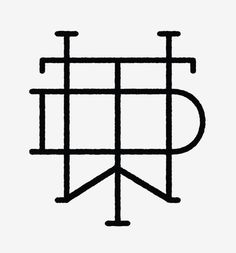 Detroit Wood Type Co. #mark #logo #vector #monogram