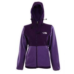 North Face Denali Fleece Hoodie Premiere Purple-Womens #fashion
