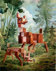 Menagerie Series : Laura Bifano #pixels #animals