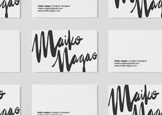 Maiko Nagao: New branding design by Maiko Nagao #inspiration #business #branding #card #design #graphic