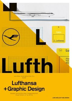 grain edit · modern graphic design inspiration blog + vintage graphics resource #yellow #design #graphic #black #airline #lufthansa