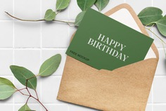 Elegant Greeting Card Mockup
