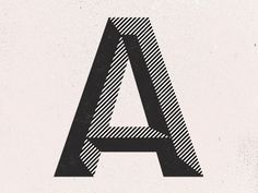 A_dribbble #one #color #black #typography