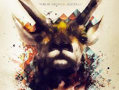 Original by George Boorujy. #george #deer #edit #boorujy