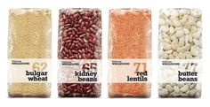 Waitrose Wholesome on the Behance Network #packaging #beans