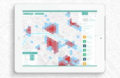 Interactive economic map of Paris #design #infographic #map #illustration #ipad #wayfinding #graphic #signage #title #tablet #presentation
