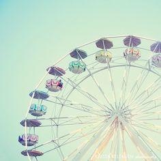 8x8in fine art photograph WONDER WHEEL by kristakeltanen on Etsy