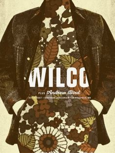 Wilco + Andrew Bird #illustration #floral