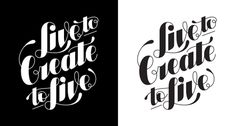 Live to Create by RAG #handlettering #typography #tshirt
