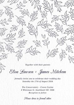 Falling Leaves - Wedding Invitations #paperlust #weddinginvitation #weddinginspiration #cards #paper #design #digitalcard #letterpress #foi