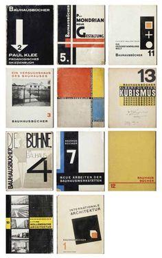 Walter Gropius & László Moholy-Nagy, Bauhausbücher, 1925-1929. Albert Langen Verlag, Munich. Via Christie's.