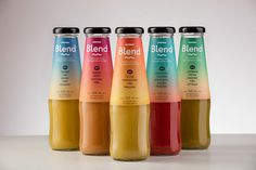 Blend premium fruit and vegetable drink design packaging package inspiration beverage heatlhy designblog www.mindsparklemag.com