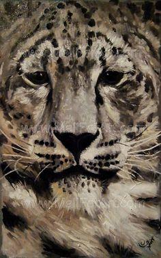 A different interpretation of realistic art - Angel Ivanov's paintings #leopard #snow #realism #portrait #painting #art #animal #oil
