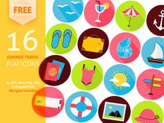 25 Free Summer Icon Set Designers Should Have