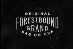 161_121030_021403_forestbound bag co #bound #brand #vintage #logo #forest #dirty