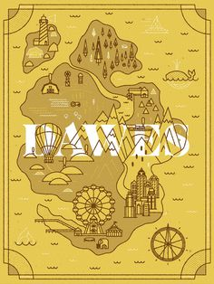 Dawes Land - Pavlov Visuals #illustration #design