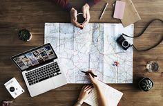 Map Flatlay: Travel Goal