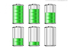 Battery levels icons Free Psd. See more inspiration related to Icon, Icons, Psd, Battery, Gadget, Computers, Horizontal and Levels on Freepik.