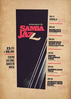 Samba-Jazz on the Behance Network #poster #music #jazz #handwriting #samba