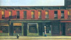 Early Sunday Morning by Edward Hopper #art