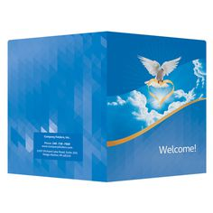 Dove of Love Church Visitors Welcome Folder Template #church #dove #template #christian #love