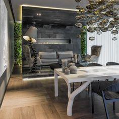 Inviting Modern Boardroom Design Enhanced by Spectacular Lighting