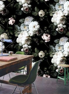 #interior #flowers #floral #tapestry #wallpaper