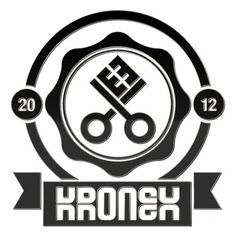 Kronex Productions 2012 #extraverage #design #crest #illustration #key #logo #kronex