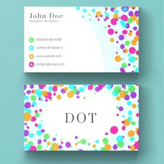 Business card with colored dots Free Psd. See more inspiration related to Background, Logo, Business card, Business, Abstract, Card, Template, Office, Visiting card, Layout, Color, Web, Presentation, Graphic, Stationery, Corporate, Contact, Creative, Company, Modern, Dots, Branding, Information, Visit card, Clean, Cards, Print, Identity, Brand, Minimal, Simple and Name on Freepik.