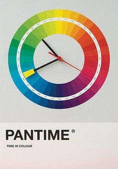 pantone clock | Flickr - Photo Sharing! #color #pantone #pantime