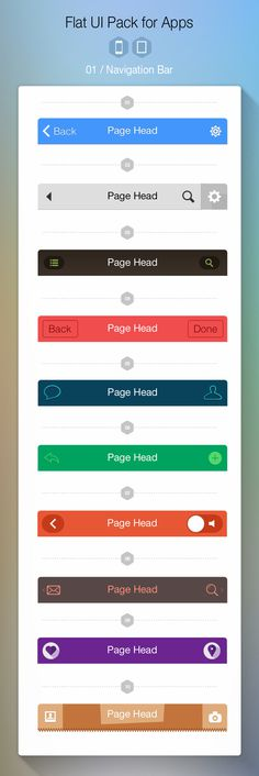 iOS 7 Navigation Bar #flat #ipad #ios7 #ui #iphone #app #navigation