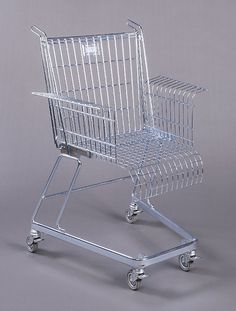 "cooperhewitt: Stiletto Studios, Chair, ""Consumer's Rest"", ca. 1991. Metal. Museum purchase from Eleanor G. Hewitt Fund. 1992-112-1. S #shopping #lighting #photography #cart"